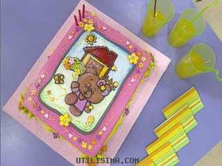 Украшение детского торта сахарной