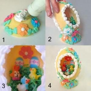 Продолжаем учиться делать оригинальные поделки к пасхе: пасхальные сахарные яйца украшенные не только снаружи...