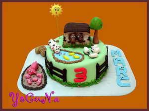 Галерея детских тортов из сахарной
