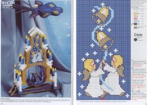 новогодние схемы вышивки крестом ангелочки