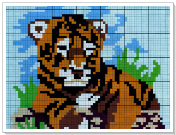 Бесплатная вышивка крестом тигрята