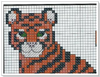 Схема вышивки крестом тигрёнок