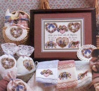 валентинки вышивка схемы