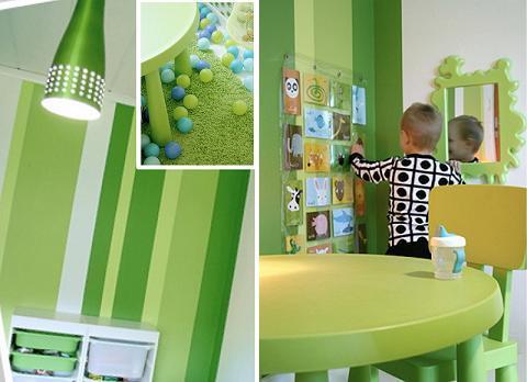 зеленый цвет интерьера фото