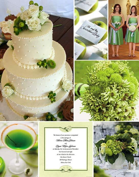 Идеи для свадьбы в зеленом цвете
